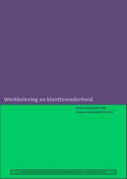 klanttevredenheidsonderzoek master thesis