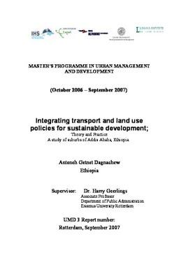 Erasmus University Thesis Repository: Integrating transport