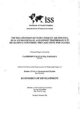 thesis on export performance Research on export performance has discovered several influencing variables,  but the type and  literature review on the determinants of export performance.