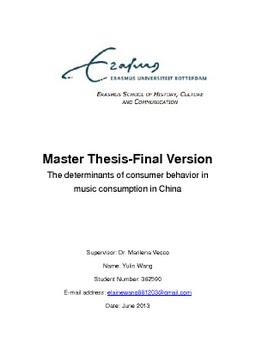 consumer study phd thesis The use of social media and its impacts on consumer behaviour: the context of holiday travel john n fotis a thesis submitted in partial fulfilment of the requirements of.