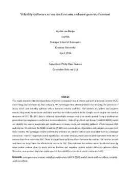 Master thesis volatility