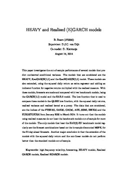 garch model thesis