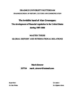 Alan greenspan dissertation