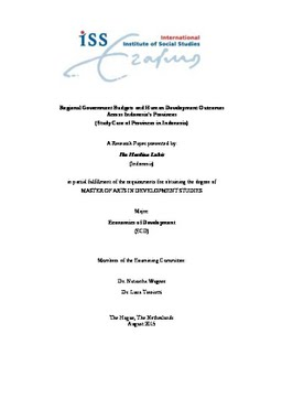 human development thesis 1 human rights and development: towards mutual reinforcement a paper prepared for a conference co-sponsored by the ethical globalization initiative.
