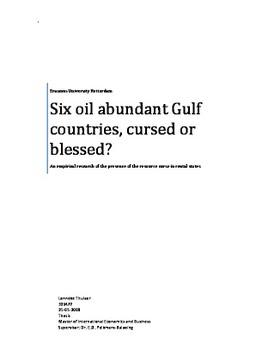 Erasmus University Thesis Repository: Six oil abundant Gulf